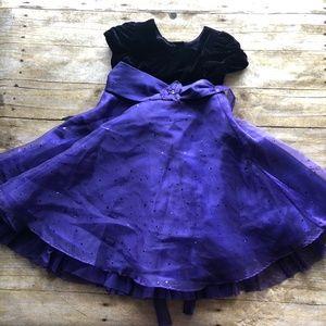 Purple Velvet Bodice Sequined Princess Party Dress